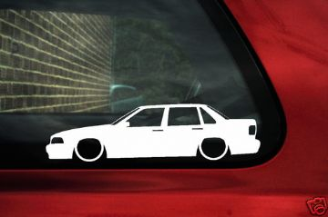 2x LOW Volvo S70 / 2.0T, 2.5T,T5 ,R outline stickers (1)